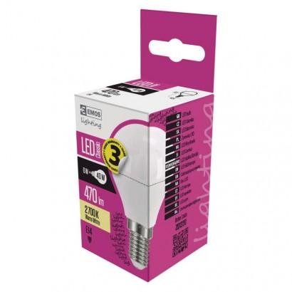Emos ZQ1220 LED žárovka Classic Mini Globe 6W E14 teplá bílá