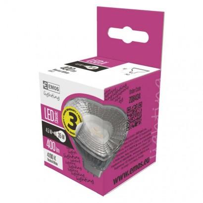 Emos ZQ8434 LED žárovka Classic MR16 4,5W GU5,3 neutrální bílá