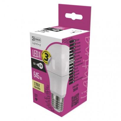 Emos ZQ5130 LED žárovka Classic A60 8W E27 teplá bílá