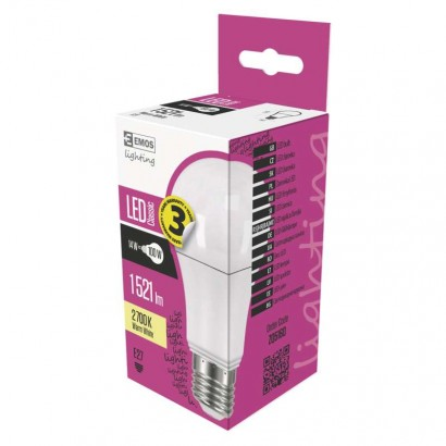 Emos ZQ5160 LED žárovka Classic A60 14W E27 teplá bílá
