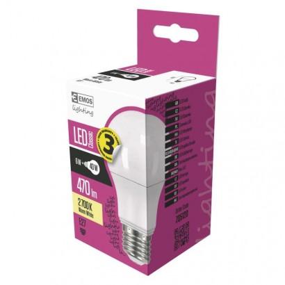 Emos ZQ5120 LED žárovka Classic A60 6W E27 teplá bílá
