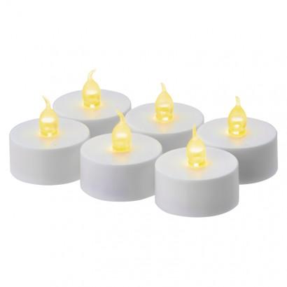 Emos ZY2149 LED dekorace – 6× čajová svíčka bílá, 6× CR2032