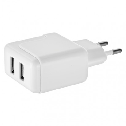 Emos V0119 Duální USB adaptér do sítě + micro USB kabel + USB-C redukce