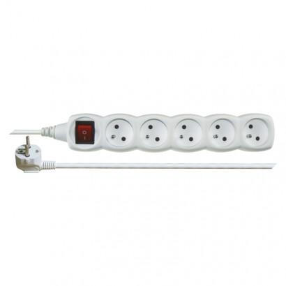 Emos P1510 Prodlužovací kabel s vypínačem – 5 zásuvky, 10m, bílý