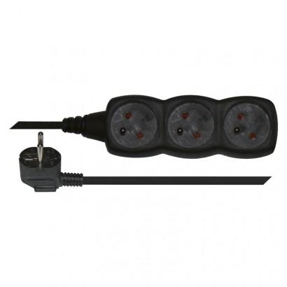 Emos PC0313 Prodlužovací kabel – 3 zásuvky, 3m, černý