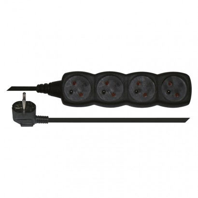 Emos PC0413 Prodlužovací kabel – 4 zásuvky, 3m, černý