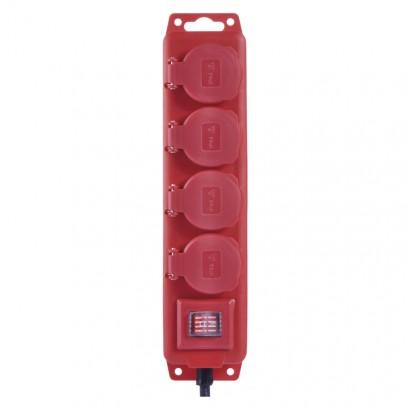 Emos P14131 Prodlužovací kabel gumový – 4 zásuvky, 3m, 1,5mm2, IP44