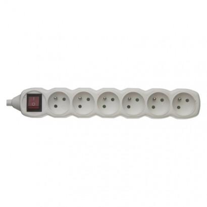 Emos P1600 Samostatná 6 zásuvka s vypínačem, bílá