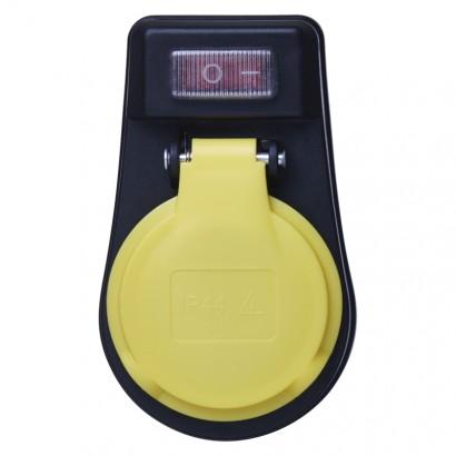 Emos P00271 Zásuvka s vypínačem, IP44, černá