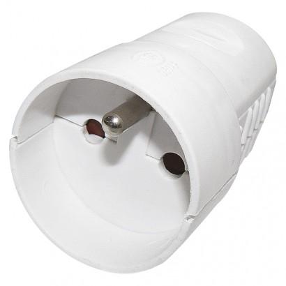Emos P0042 Zásuvka pro prodlužovací kabel, bílá