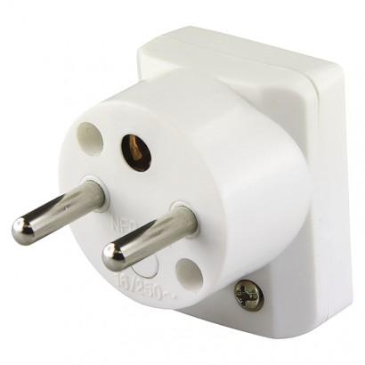Emos P0035 Vidlice úhlová pro prodlužovací kabel, bílá
