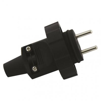 Emos P0037 Gumová vidlice pro prodlužovací kabel, černá