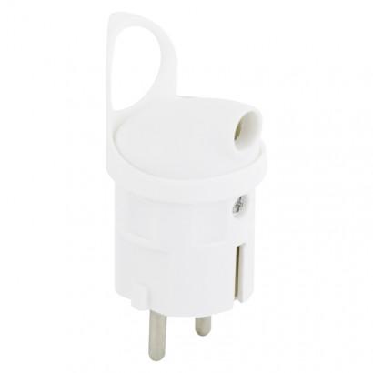 Emos P0039 Vidlice úhlová pro prodlužovací kabel, bílá