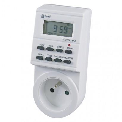 Emos P5501 Časovač – digitální spínací zásuvka TS-EF1