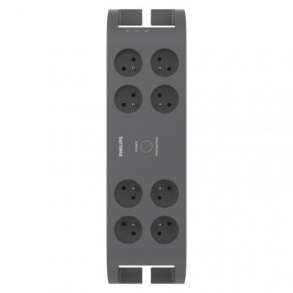 Emos P54041 Přepěťová ochrana PHILIPS – 8 zásuvek, 2m,šedá