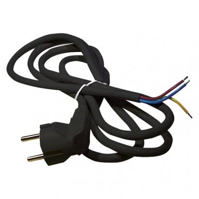 Emos S18322 Flexo šňůra PVC 3× 1,5mm2, 2m, černá