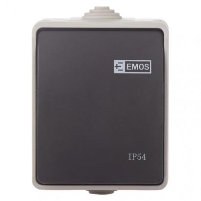 Emos A1398 Přepínač nástěnný č. 1,6 IP54, 1 tlačítko