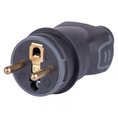Emos A9820.1 Vidlice gumová černá IP44