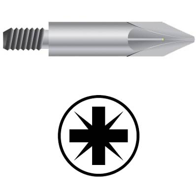 WEKADOR Bit pozidriv PZ3/33 mm se závitem M6 Professional pr. 10,0