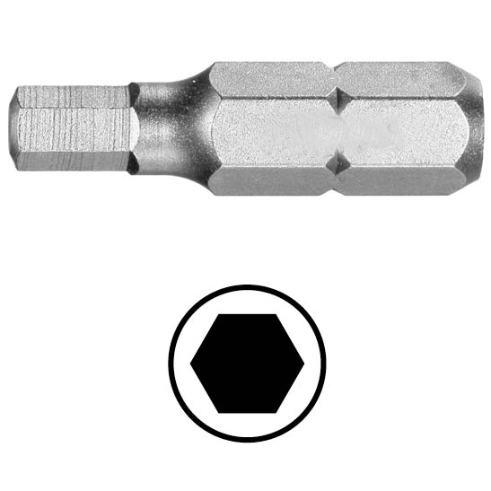WEKADOR Bit šestihran 1 - 25 mm Professional