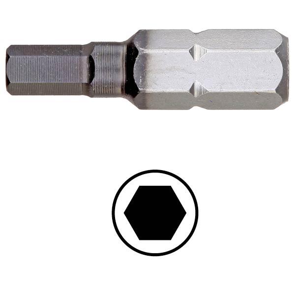 WEKADOR Bit šestihran 5 - 25 mm DLC