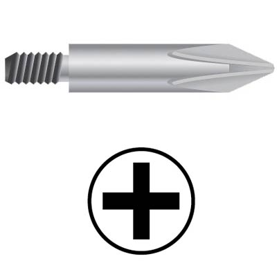WEKADOR Bit Phillips PH0 42 mm se závitem M4  pr. 4,0  Professional