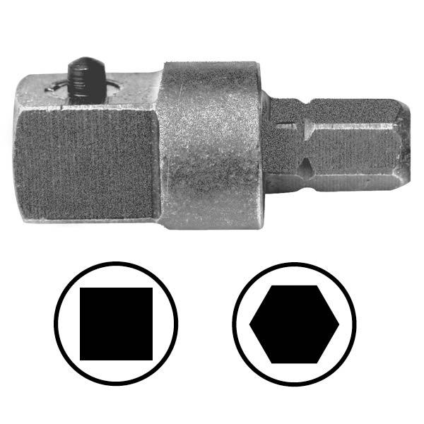 WEKADOR Adaptér 50 mm vnější čtyřhran 1/4 s kolíkem