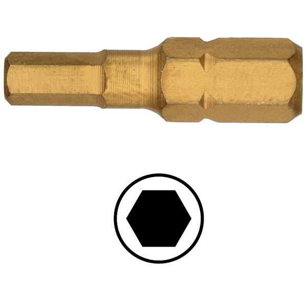 WEKADOR Bit šestihran 5 - 25 mm TIN