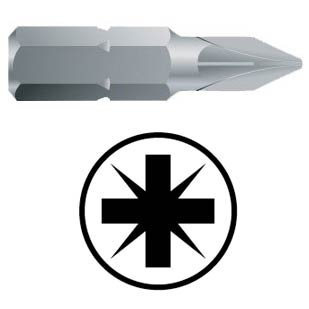 WEKADOR Bit pozidriv PZ1 - 32 mm náhon 5/16 Professional