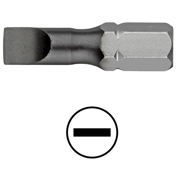 WEKADOR Bit plochý torzní 6,5x1,2 - 25 mm DLC