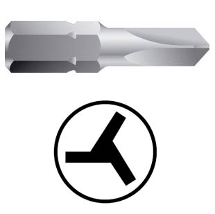 WEKADOR Bit tri.wing 0 - 25 mm Professional