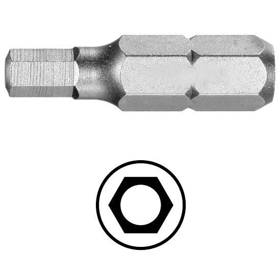 WEKADOR Bit šestihran 3 - 25 mm s vývrtem Professional
