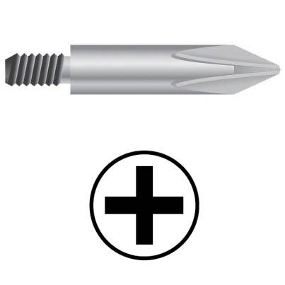 WEKADOR Bit Phillips PH2/45 mm se závitem UNF Professional pr. 6,0